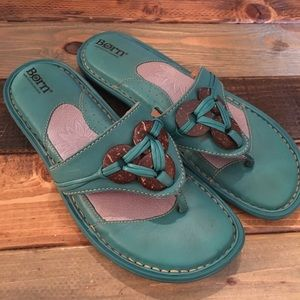 Born Turquoise Sandals slip on Women's Size 8